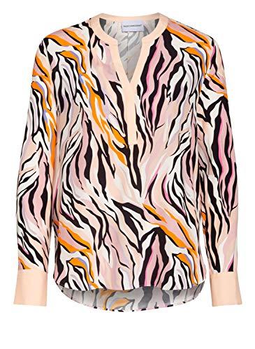 Herzensangelegenheit Bluse aus Seide mit Animal Print, Farbe:Mehrfarbig, Größe:40