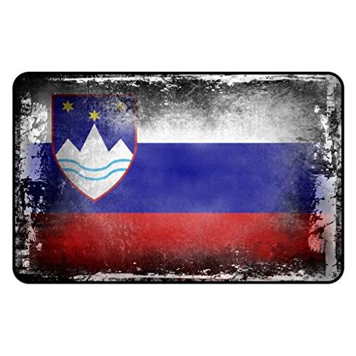 Cadora Magnetschild Kühlschrankmagnet Flagge Slowenien shabby chic abverwendet alt gebraucht