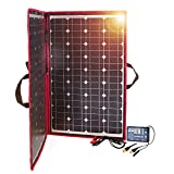 Dokio 100W Solar Panel 12V Monocrystalline foldable with Inverter solar Controller
