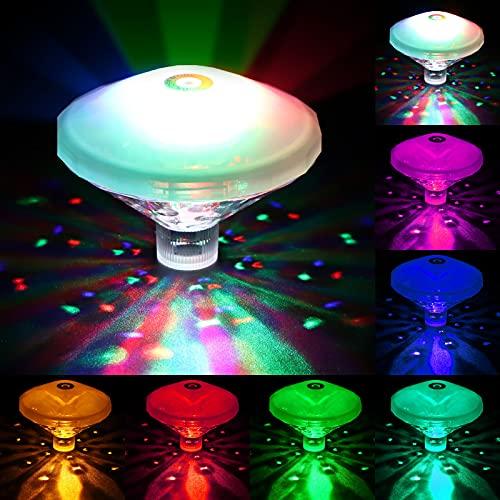 Danolt Pool LED Unterwasser LED, RGB Unterwasser Licht IP68 Led Poolbeleuchtung Lichter, Wannen Lichter Schwimmbad Lichter mit 7 Beleuchtungsmodi für Brunnen, Bars ,Schwimmbad, Halloween, Weihnachten