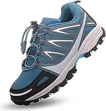 JimmyHY Boys Shoes Hiking Shoes Kids Boys Sneakers Waterproof Vamp Outdoor Athletic Trekking Trail Running Shoes Azure