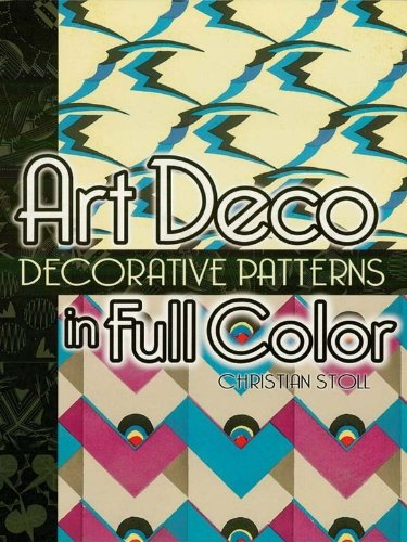 Art Deco Decorative Patterns in Full Color (Dover Pictorial Archive) (English Edition)