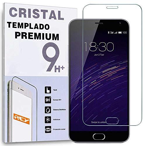 REY Protector de Pantalla para MEIZU M2 MiniCristal Vidrio Templado Premium