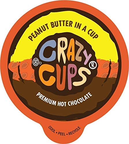 Crazy Cups Seasonal Hot Chocolate Peanut Butter in a cup Single Serve Cups for Keurig K Cup product image
