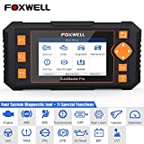 FOXWELL Scan Tool Obd2 Scanner Automotive Code Reader NT634 Diagnostic Tool for Engine Transmission ABS SRSwith Oil EPB SAS TPMS DPF BRT CVT Throttle Body Reset Gear Learn Injector Odometer