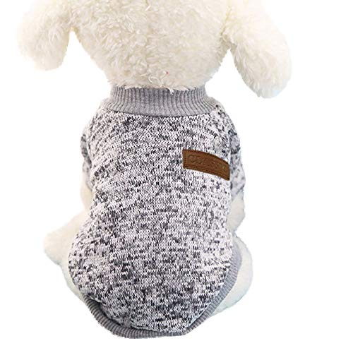 OGGID Sudadera de Invierno para Perro y Gato Punto Ropa Tejer para Cachorro Jersey de Forro Polar Suave y Cálido Durable Y Lavable 4 Tamaños