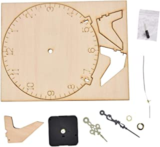 DIY Wooden Clock, DIY Assembled Clock, No Paint Educational Toy for Kids Baby(number 2)