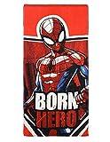 Spider-Man Toalla de Playa Infantil Niño Rojo 70x 140cm, 100% Algodón,...