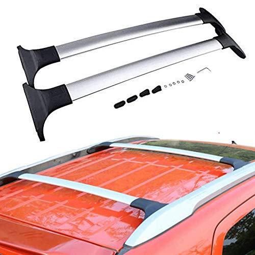 UDP Barras transversales ajustables plateadas, 2 unidades, barras transversales para el techo, portaequipajes para Ford Ecosport 2013-2020