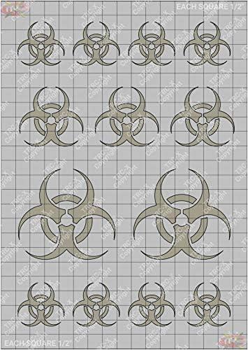 TRC8008S Bio Hazard Graphic Solvent Paint Stencil Mask Sheet Vinyl product image
