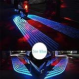 Autotür Willkommenslicht 2ST Auto-LED-Engels-Flügel Projektions-Licht Willkommen Licht-Laser-Motorrad Willkommen Schatten Courtesy Lampe Kit for Motorrad (Color : Ice Blue)