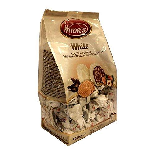 Witor's Praline White 1000g Beutel (Weiße Schokolade mit Haselnuss-Creme Waffel-Keks)