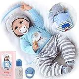 ZIYIUI Muñecas Reborn 22 Pulgadas 55 cm Bebes Reborn Niños Realista Baby Doll de Vinilo de...