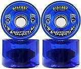 TGM Skateboards Bigfoot Longboard Wheels 76mm 80A SHR Mountain Cruisers Bleu Translucide