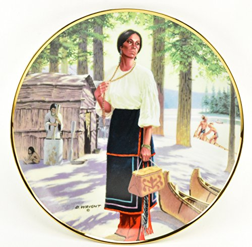 David Wright Hamilton Collection Native American Woman Plate Lily of The MOHAWKS c1990