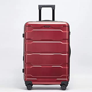 IhDFR Luggage 20 inch Zipper Trolley case Mute Hard Shell Durable Expandable Large Capacity Universal Wheel Scratch-Resistant Travel 24 inch (Color : Red, Size : 24 inches)