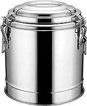 ZZZR Geïsoleerde melk thee emmer, roestvrij staal geïsoleerd vat voor de cafetaria Cafe winkel, thuis buiten warme dranken...