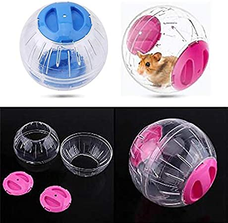 TIANTIAN Hamster Mini Running Activity Exercise Ball Toy Transparent Hamster Ball Small Pet Rolling Ball Toy Animals Cage Accessories blue
