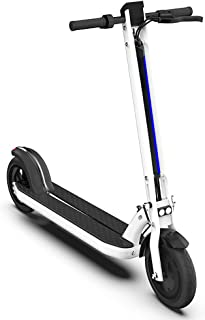 JIAOHJ Folding Electric Scooter,LED Double Light and Warning Light, 8.5 inch Non Slip Tires and Double Brakes, can Bear 200 kg,for Commuting and Leisure