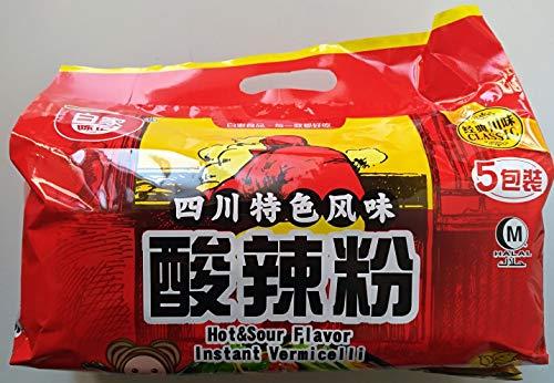 白家酸辣粉糸 即席春雨 インスタントラーメン 酸っぱくて激辛 5食入 525g