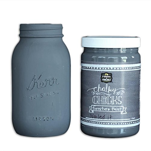Chalk Finish Paint - Furniture & Cabinet Paint (32 oz, Nailed It)