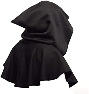 Yuehuam Unisex Medieval Cowl Hooded Cloak Hat Halloween Cosplay Costume Poncho Wicca Pagan Cloth for Men Women