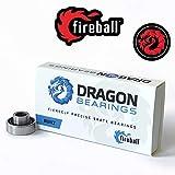 Fireball Dragon Precision Skateboard Bearings | 608 Bearing for Skateboards, Longboards, Inline Skates, Roller Skates, Spinners (Built 8)