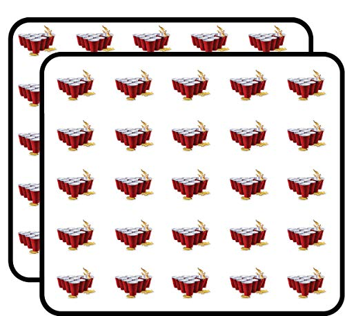 Beer Pong Sticker for Scrapbooking, Calendars, Arts, Kids DIY Crafts, Album, Bullet Journals 50 Pack