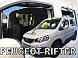 Car Lux AR05584 - Derivabrisas Deflectores de Aire Cortavientos de Ventanillas Kit Delanteros y...