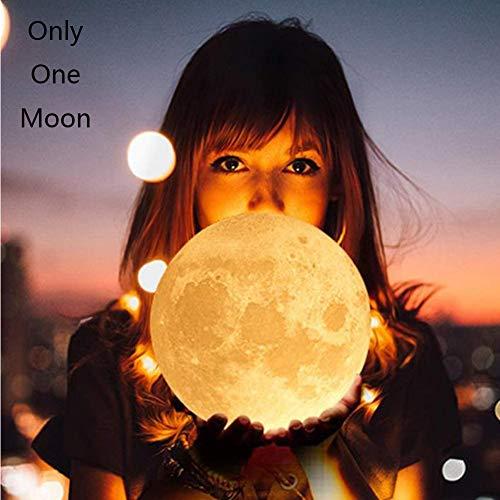 Nacht Licht Afstandsbediening lamp, Maan Licht met 16 Kleuren en USB Oplaadbaar-De Beste Geschenken voor Kinderen en Liefhebber