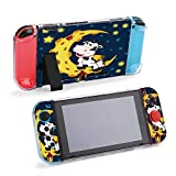 SUPNON Carry Case Compatible with Nintendo Switch, Ultra Slim Hard Shell, Protective Carrying Case for Travel - Cow and On Moon Design3454