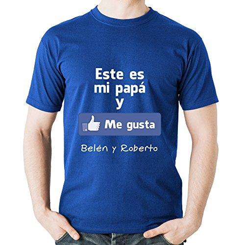 Calledelregalo Regalo para Padres por su cumpleaños, Navidad o el Día del Padre: Camiseta Personalizada Azul Marino