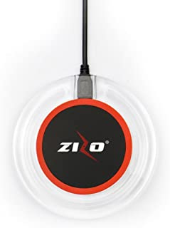 Zizo Wireless Charger, Qi Fast Charging Pad Compatible with Any Qi Enabled Devices