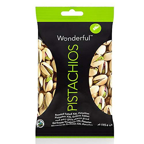 Wonderful Pistachio Nuts - Healthy Snacks, Super Foods, Roasted Salted Flavour - Pack of 3, 115g Pistachios