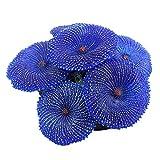 Esenlong Plantas de pecera, plantas de acuario de silicona artificial de coral plantas de acuario de pecera, decoración de paisajismo (azul)
