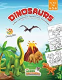 Dinosaurs coloring book for kids age 4-5-6, T-Rex Carnotaurus Spinosaurus Triceratops and many more to meet!: book of pre-school and pregraphism ... and fun pastime for children and teenagers