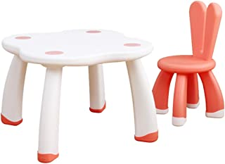 EXCLVEA-TCS Baby Activity Table- Kids Table And Chairs Set Childrens Toddler 2-in-1 Plastic Activity Tables Sets Best For Toddlers Reading Baby Play Table  Color White  Size 70x50 35x60cm