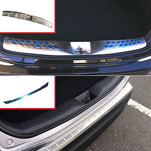 arrière intérieur extérieur en acier inoxydable de seuil de pare-chocs plaque de couverture 2 pcs