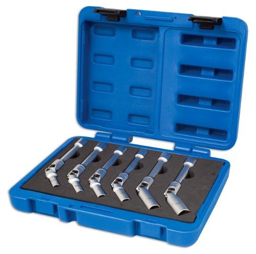 Laser 4324 Lot de 12 clés à Douille articulées universelles