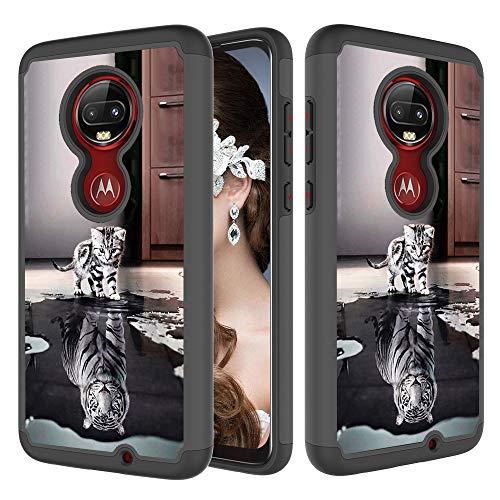 Xifanzi 360 - Funda Protectora Completa para LG K10 2018 Case LG K30, Gato de Tigre, Motorola Moto G7