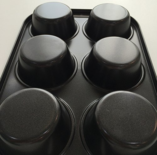 パール金属EEスイーツ『マフィン型プレート6個取りハイクリーンコート(D-4838)』