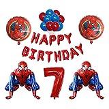 Kfdzsw Ballons Feuille 3D Super héros Homme Balloon Spiderman Partie d'anniversaire de la fête des Enfants Jouet pour Enfants Baby Shower Ballon air globos Photo Accessoires Fête (Color : 09)
