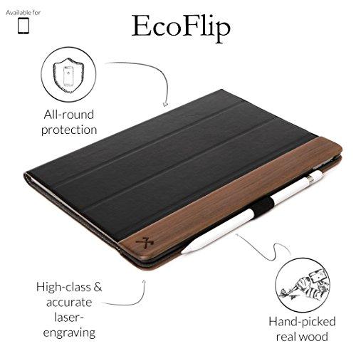 Woodcessories - Hülle kompatibel mit iPad Pro 9.7 aus Holz - EcoFlip iPad Case (Walnuss)