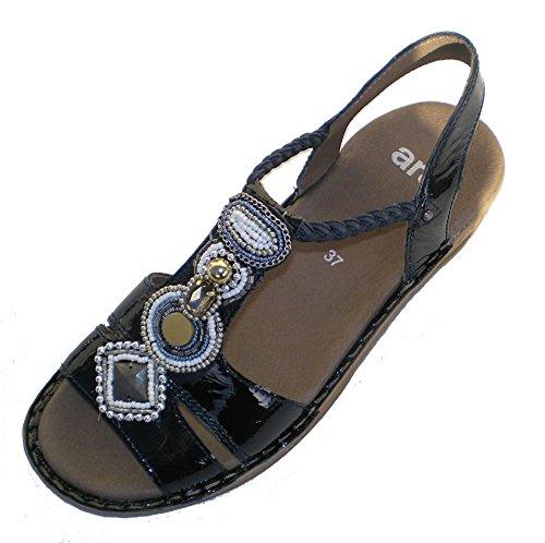 Ara Hawaii 37275 Sandalo con Pitre E Brillantini (36 EU, Blu)