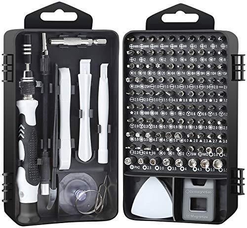 AGT Handy Reparatur Set: 117-teiliges Profi-Reparaturset für Smartphone, Tablet, Notebook & Co. (Laptop Reparatur Set)
