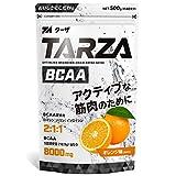 TARZA(ターザ) BCAA 8000mg アミノ酸 クエン酸 パウダー オレンジ風味 国産 500g