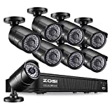 ZOSI PoE Home Security Camera System,8CH 2MP NVR with (8) 2.0