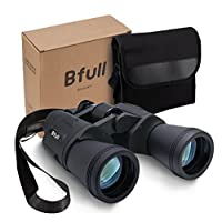 BFULL 12x50 Compact Folding Binocular with Carrying Case & Strap