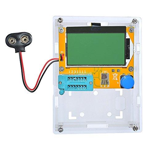 lcr-t4 ESR Meter Transistor Tester Diode Triode Kapazität SCR Induktivität 328 LCD-Display MOS PNP NPN mit Shell (Akku Schnalle), Transistor Battery buckle with Shell