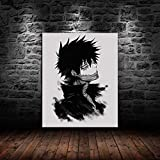 Home Decor Anime Prints Painting - Canvas Wall Art for Room, 1 Piece Canvas Wall Art Anime My Hero Academia dabi Poster Painting on Canvas, for Home Living Room Bedroom, No Frame